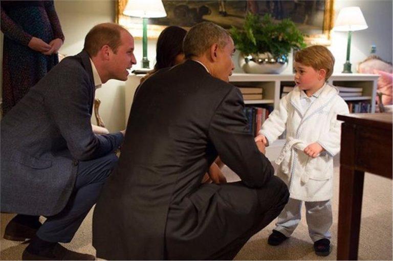 Όταν Ομπάμα συνάντησε τον πρίγκιπα Τζορτζ! | vita.gr