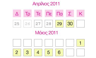 Τα top της εβδομάδας (29/04/2011 – 6/04/2011) | vita.gr