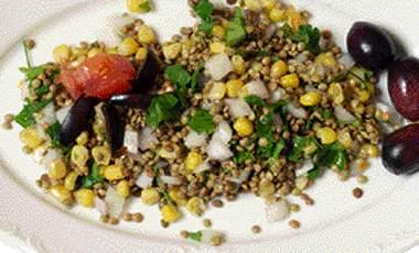 Σαλάτα με φακές και καλαμπόκι   vita.gr