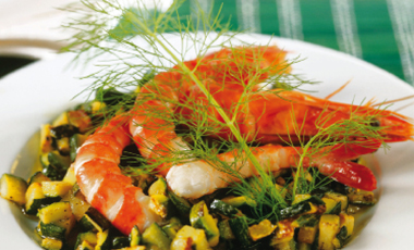 Γαρίδες σοτέ με μαρινάτα κολοκυθιού | vita.gr