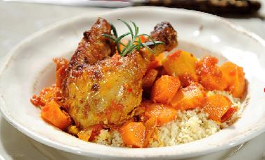 Κοτόπουλο με μέλι και κους-κους | vita.gr