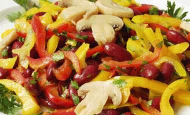 Σαλάτα με φασόλια   vita.gr