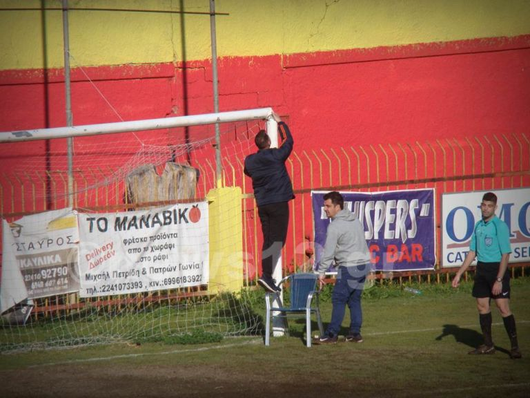 Για γέλια και για κλάματα: Έπεσε δοκάρι σε αγώνα ελληνικού ποδοσφαίρου | vita.gr