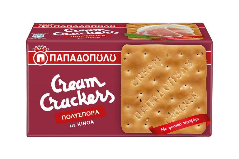 Νέα γεύση Cream Crackers Πολύσπορα από την Ε.Ι. Παπαδόπουλος Α.Ε. | vita.gr